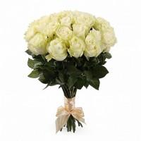 25 белых роз Эквадор